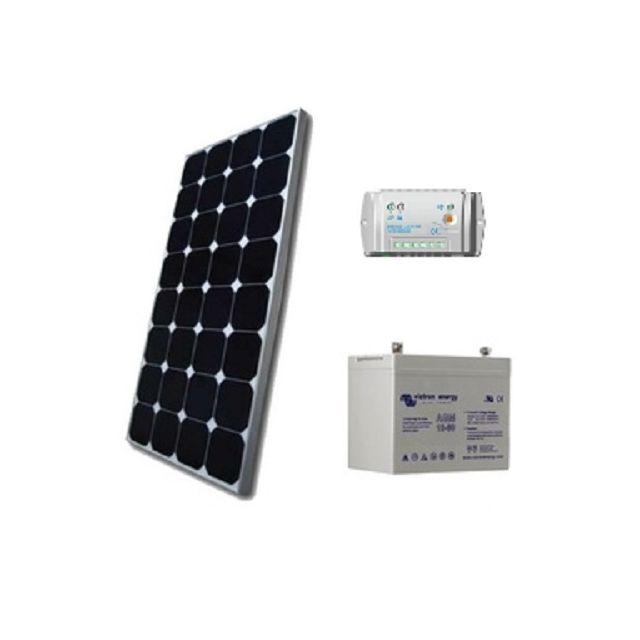 victron kit solaire site isole 100wc 12v capacit. Black Bedroom Furniture Sets. Home Design Ideas