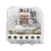 Finder - 260380240000 - Télérupteur boite - 1NO+1NC - 24VAC 10A - Ip20