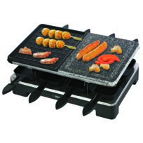 TRIOMPH - RACLETTE GRILL + PIERRADE 8 PERSONNES – 1400W ETF1633