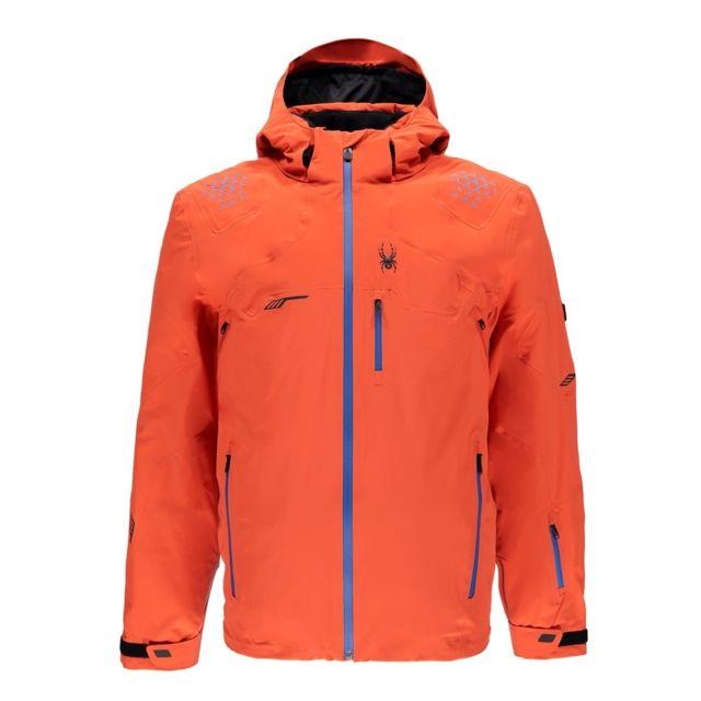 Burstfrench De Monterosa Veste Ski Spyder Blueblack Orange Xl RfIZqWzv