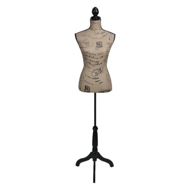 Superbe Rangements pour armoires à vêtements ligne Lusaka Buste de couture  Mannequin de Femme Marron et Noir Jute