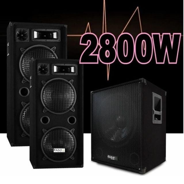 Ibiza Sound Pack sono 3800w / cube1512 - 2 enceintes 1000w