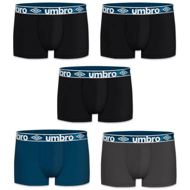 Umbro Lot N1 De 5 Boxers Coton Homme Multicolore