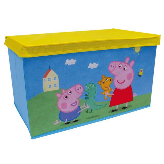 jemini banc coffre jouets en tissu pliable peppa pig bleu 10cm x 10cm x 40cm pas cher. Black Bedroom Furniture Sets. Home Design Ideas