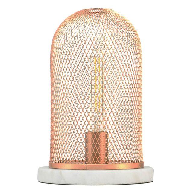 C-creation - Lampe Lodi Cuivre et blanc