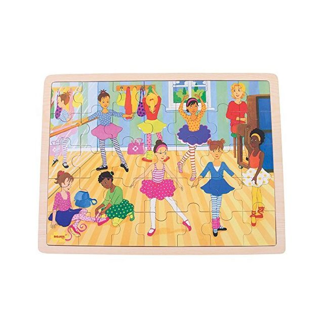 Bigjigs Toys Ballet Scene Wooden Jigsaw Tray Puzzle for Children - 35 Piece Puzzle