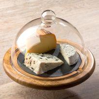 Laguiole - Cloche a fromage en bois et ardoise noir