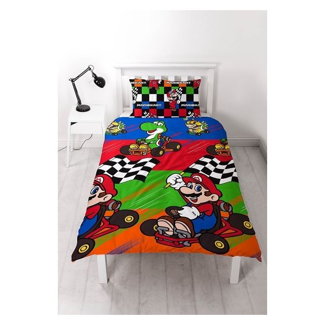 Mario - Parure de lit Nintendo Champs Multicolore - NC