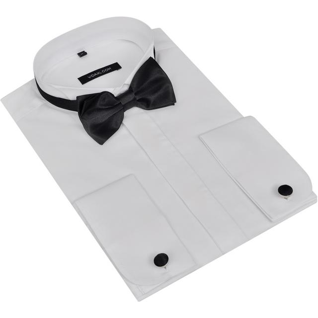 rocambolesk superbe 3 pcs chemise homme avec bouton de. Black Bedroom Furniture Sets. Home Design Ideas