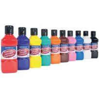 Majuscule - peinture vinylique plastifiante - lot de 10 flacons de 250 ml