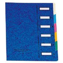 Emey - Clip Junior - Trieur - 6 compartiments - 24x32 cm - Bleu