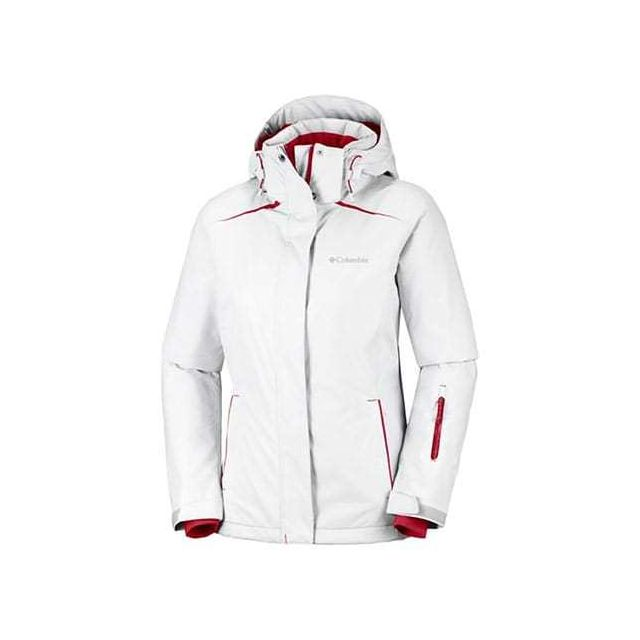 Columbia Veste On the Slope blanc rouge femme pas cher