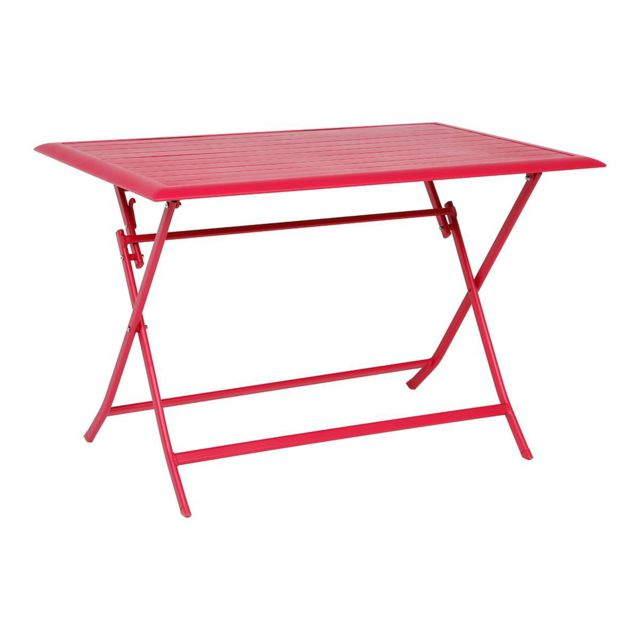 Hespéride Table pliante Azua - 4 Places - Cerise