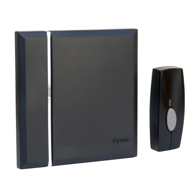 Byron - Carillon sans fil avec 4 mélodies Noir