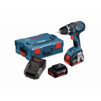 Bosch - Perceuse visseuse GSR 18V - 2 batteries 4.0Ah + chargeur + coffret - 0615990GU5