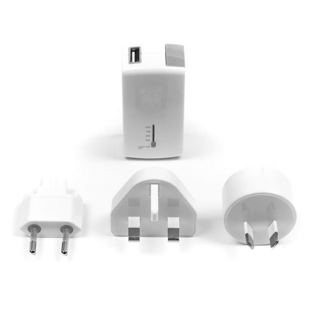 TARGUS APD752EU - Chargeur secteur 2100mAh - Blanc Combiné chargeur mural USB et batterie externe de Targus pour les téléphones et les tablettes