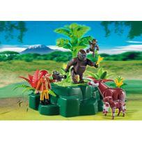 5415 - Figurine - Gorilles Et Okapis Avec VÉGÉTATION