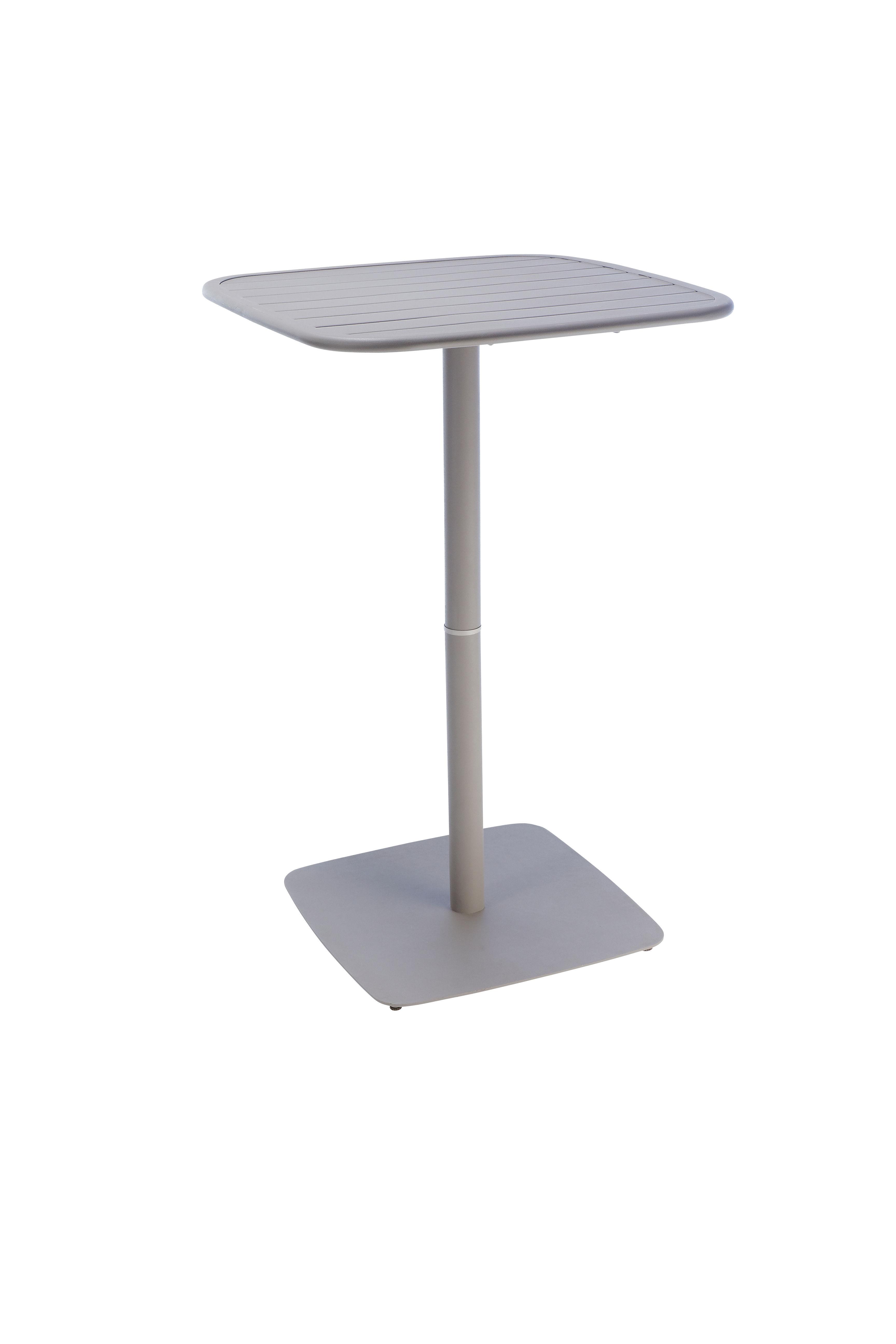OPTIMISTIC - Table bar Acier151 taupe