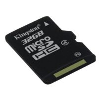 Kingston - Carte mémoire flash adaptateur microSDHC - Sd inclus e - 32 Go - Class 4 - microSDHC