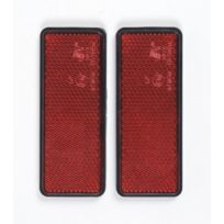 Cartrend - Jeu de 2 catadioptres rouges rectangulaires