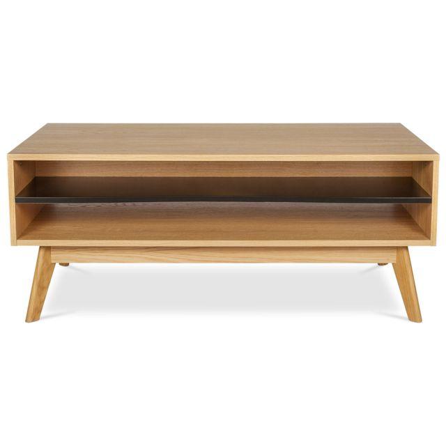 Privatefloor Table basse en bois de style scandinave