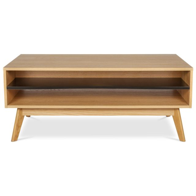 Privatefloor Table basse en bois de style scandinave - Avalon
