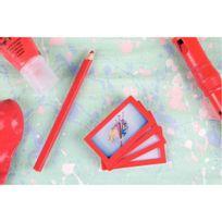 Tarifold - cadres d'affichage adhésif 80x45mm rouge - sachet de 4