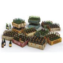 Mini Art - Maquette bouteilles de bières et caisses en bois
