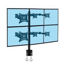 Kimex - Support de bureau 6 écrans Pc 13''-20'', fixation bord de table