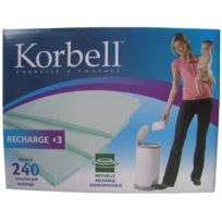 Korbell - Kr400DR3B - Poubelles À Couches - Recharge Maxi - 3 Pack