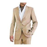 Kebello - Costume homme Lin beige