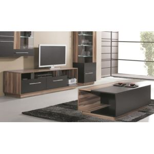 house and garden pack meuble tv table basse black pas cher achat vente salons complets. Black Bedroom Furniture Sets. Home Design Ideas