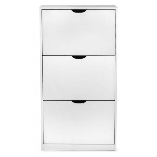 4kraft viki meuble chaussures style scandinave blanc. Black Bedroom Furniture Sets. Home Design Ideas