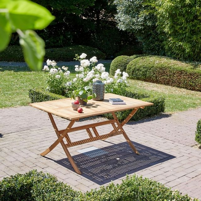 Table de jardin pliante en bois d\'acacia FSC