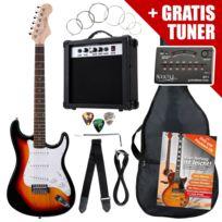 Rocktile - St Pack Guitare electrique Set Sunburst kit y compris amplificateurs, spoche, tuner, câbles