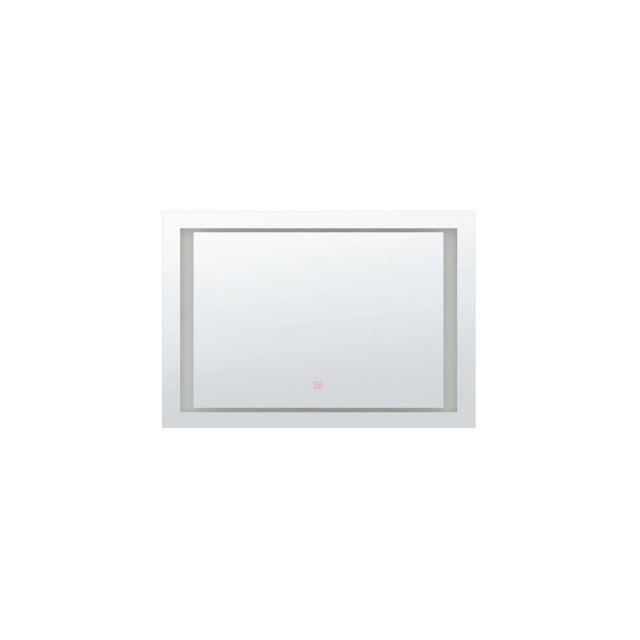 BELIANI Miroir avec LED 60 x 80 cm EYRE - argent