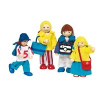 Goki - 51932 - Mini-poupÉE ArticulÉE - Famille En Vacances