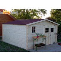 Habrita - Abri de jardin en Bois 16.81 m² Balta 28 mm L 400 x P 400 cm