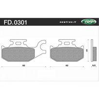 Newfren - Plaquette de Frein Fd0301 Be Organique Suzuki Burgman Uh125 Su