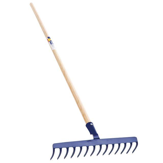 Avec manche bois 1,5 m R/âteau de jardin 14 dents droites