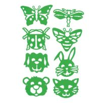 Dtm - lot de 8 gabarits masques, sur le thème des animaux