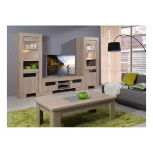 chloe design meuble vitrine en bois aloha naturel 70 x 75 x 40 pas cher achat vente. Black Bedroom Furniture Sets. Home Design Ideas