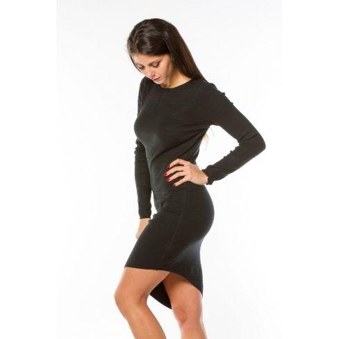 99ca80ff5dfe4 Princesse Boutique - Robe pull Noire dos lacé - pas cher Achat ...