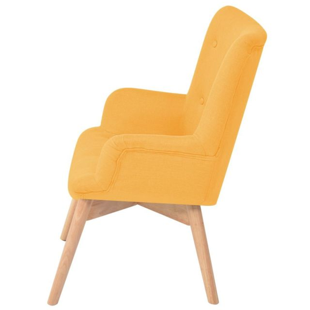 Fauteuils Fauteuil reference Icaverne Jaune avec repose pied Minsk Tissu 9IDEH2YW