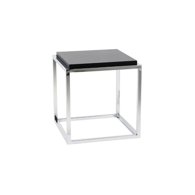 Table basse design 42x42x44cm Kyadri - noir