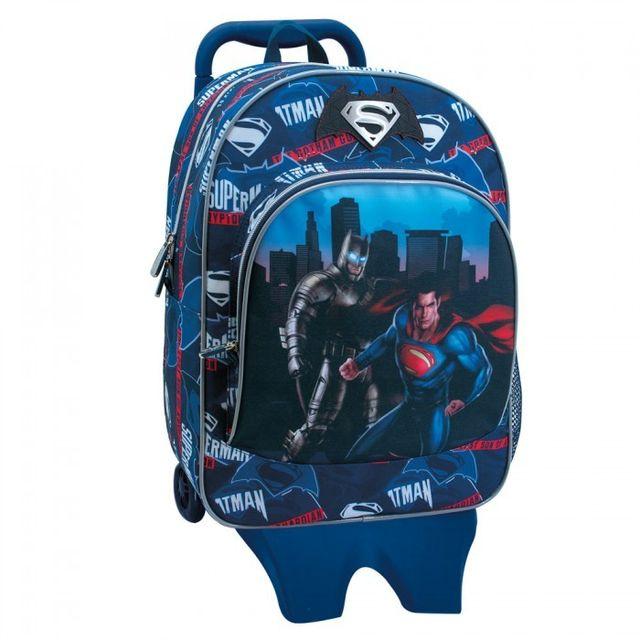 la moitié aac71 caf60 Batman - Sac à roulettes Vs Superman 40 Cm Haut de Gamme ...