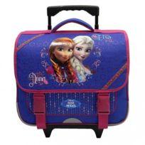 Frozen - Cartable à roulettes Reine des neiges fille - Violet 38 cm - 6/12ans