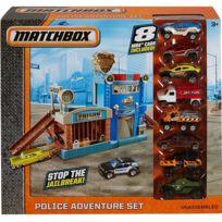 Matchbox - Coffret Police Adventure Set Avec 8 Voitures - Vehicule Mattel