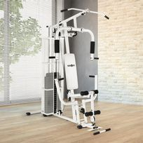 Ultimate Gym 3000 Station de Fitness multifonctions -blanche
