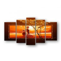 Deco Soon - Tableau Peinture Coucher de soleil